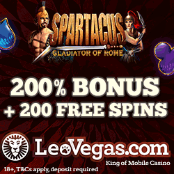 Play Spartacus and Other Fruit Machines at Leo Vegas Casino